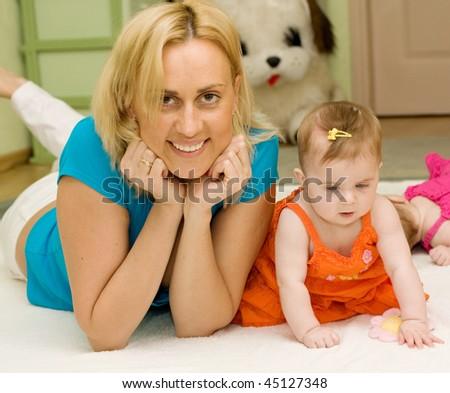 Mother's love - stock photo
