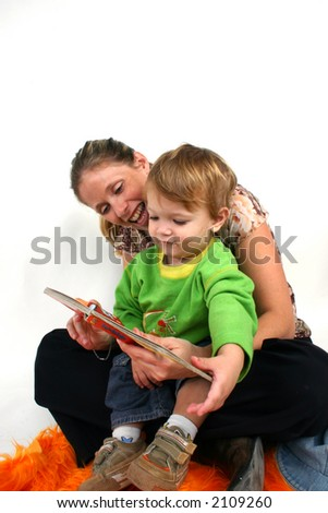 mother & son - stock photo