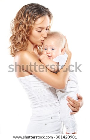 Mother with baby - stock photo