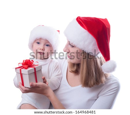Mother with baby. Christmas photo
