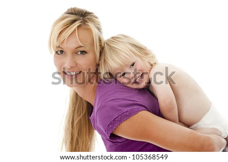 Mother with child - stock photo