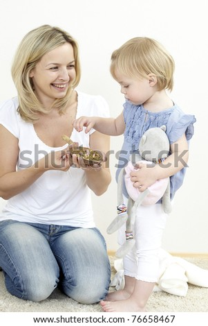 mother with daughter and bach flowers