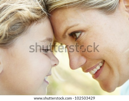 Mother with young daughter - stock photo