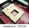 Motherboard - Processor Socket - stock photo