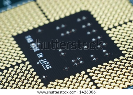 Motherboard to CPU contacts, macro 1:1