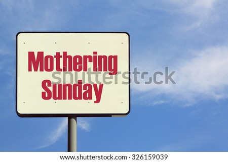 Mothering Sunday Sign
