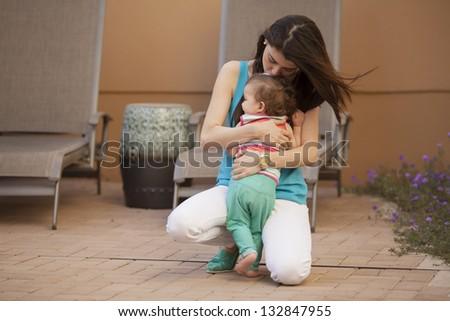 Motherly love - stock photo