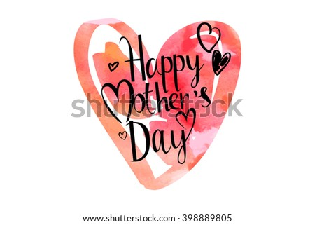 mothers day hand lettering handmade calligraphy.Raster version - stock photo