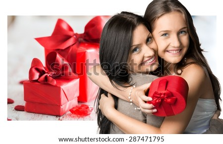 Mothers Day, Mother, Daughter. - stock photo