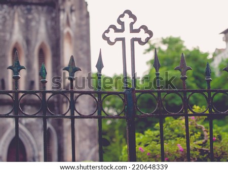 motifs in St. Joseph's Cathedral - stock photo