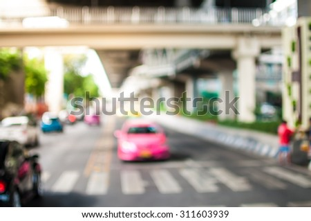 motion blur and blurry of traffic in the city. background - stock photo