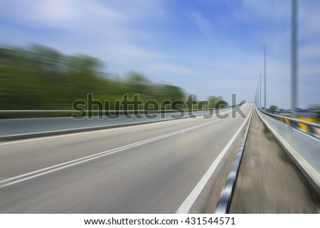 motion blur racing track for race competition, fast speed grand prix road for formula f1 championship. - stock photo