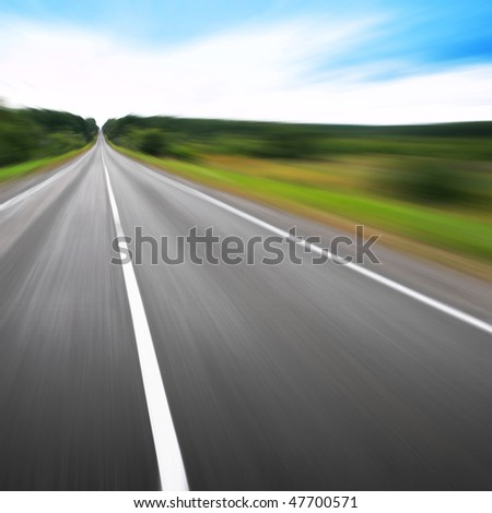 Motion blurred road.