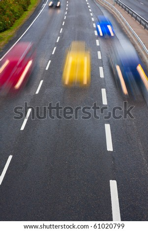 Motion on highway - stock photo