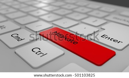 Motivate Word on a Keyboard in a simple 3D Illustration