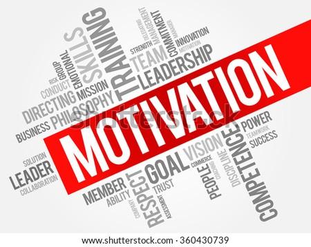 MOTIVATION word cloud, business concept - stock photo