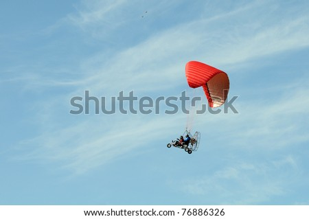 Moto paraglider - stock photo