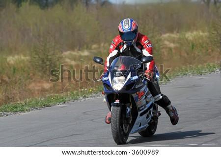 Motobike show in Kaliningrad, Russia - stock photo