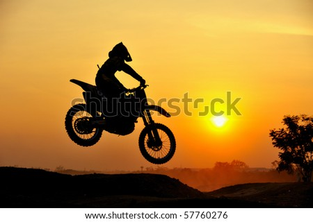 Motocross rider - stock photo