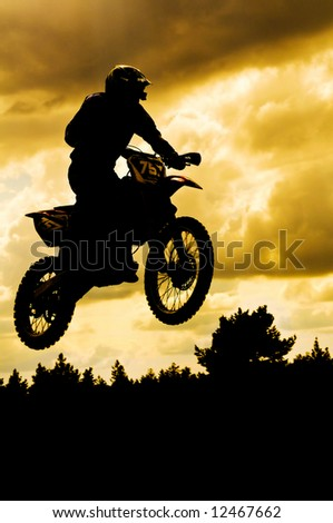 motocross rider in a dirt track race