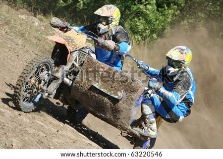 Motocross Sidecar Team Hill Climb