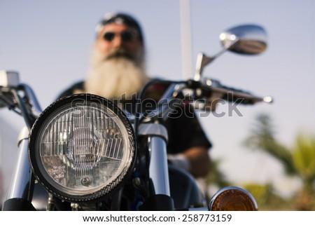 Motocycle Rider - stock photo