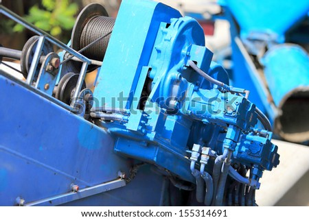 motor and sling for crane hook