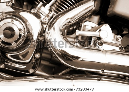 Motor bike detail - stock photo