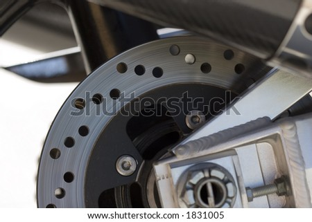 motor bike rotors - stock photo