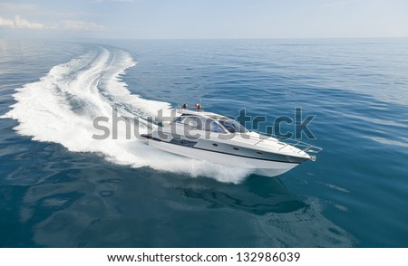 motor boat - stock photo