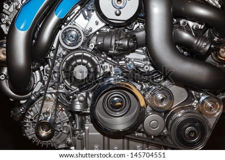 motor detail - stock photo