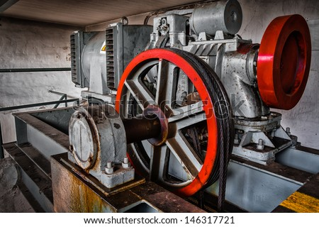 motor driven elevator - stock photo