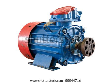 motor (isolated on the white) - stock photo