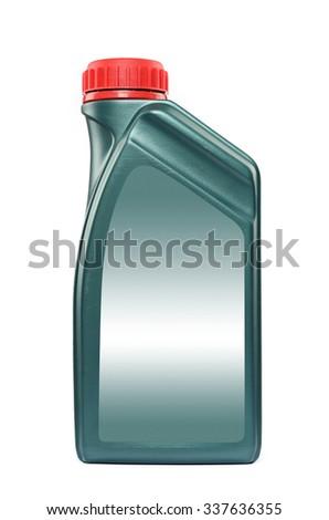 Motor Oil Bottle isolated on white background - stock photo