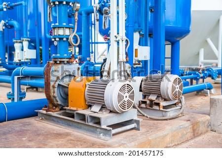 Motor pump  - stock photo