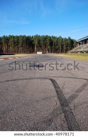 Motor racing track - stock photo