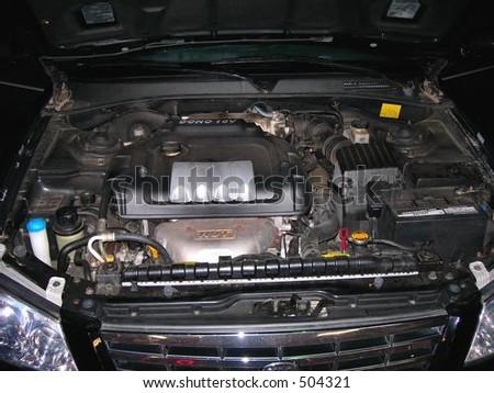 Motor Repair 4 cyl - stock photo