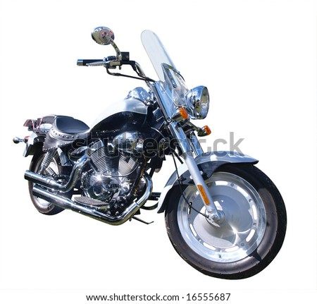 Motorbike isolated with clipping path - stock photo