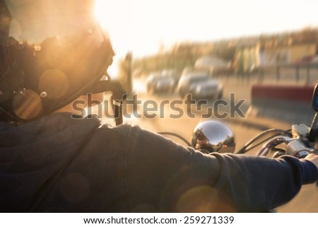 Motorbike Perspective - stock photo