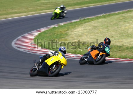 Motorbike racing - stock photo