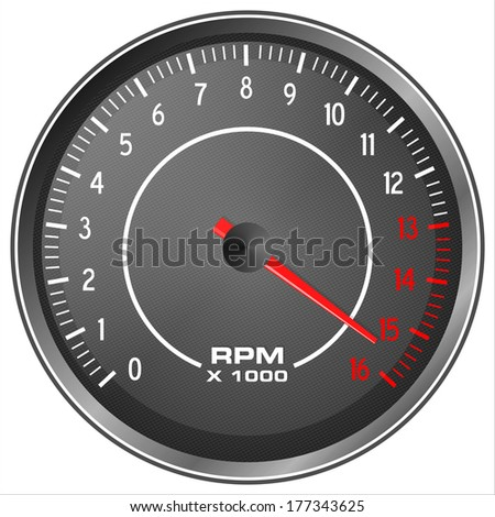 Motorbike tachometer illustration isolated on white background - stock photo