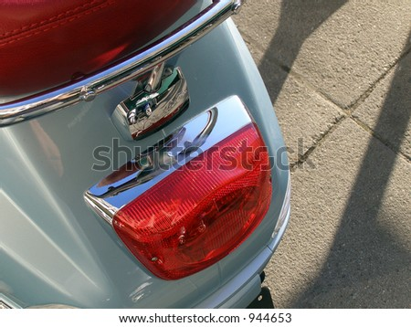 Motorbike Tail Light - stock photo