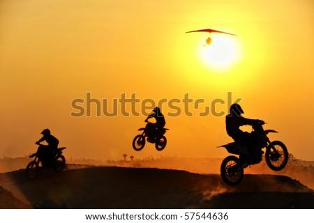 Motorcross rider - stock photo