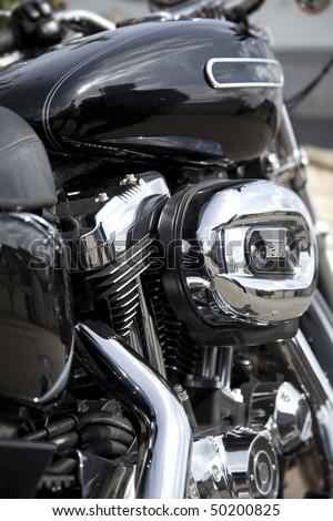 motorcycle airfilter closeup - stock photo