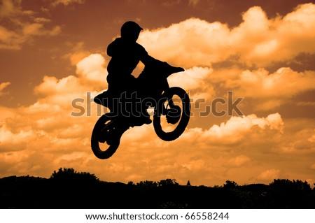 Motorcycle biker - stock photo