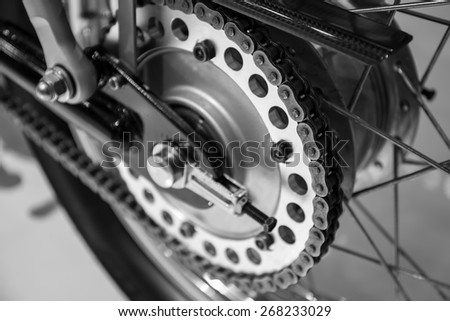 motorcycle chain - stock photo