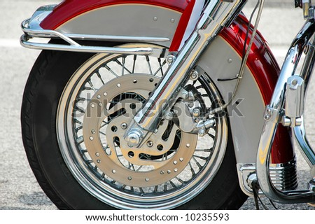 Motorcycle close up - stock photo