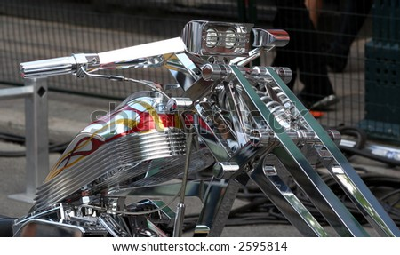 Motorcycle close-up
