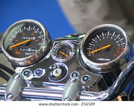 motorcycle command table - stock photo
