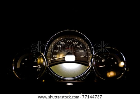Motorcycle Control Panel - stock photo
